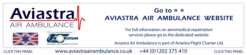 Aviastra Air Ambulance - details for separate aeromedical repatriation website.
