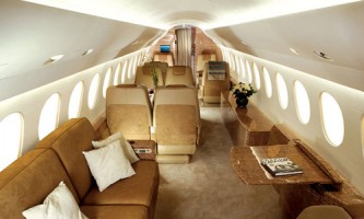 Falcon 7X Luxury Jet Interior
