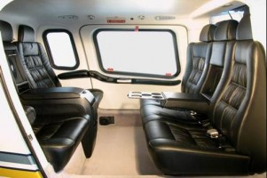 Agusta 109 Charter Hire Helicopter Interior