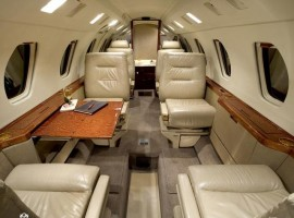 Private Charter Jet - Citation III Interior