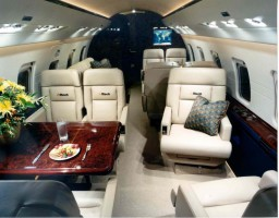 Challenger 604 Private Jet Interior