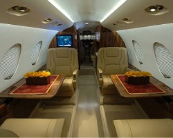 Falcon 50 Corporate Jet Interior