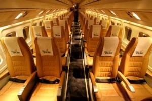 Fokker 50 Charter Turboprop Interior