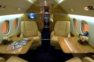 Falcon 900EX Luxury Jet Interior