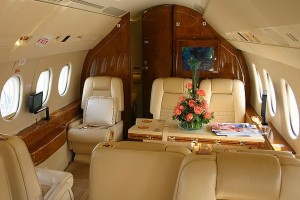 Falcon 2000 Corporate Jet Interior