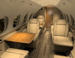 Hawker 800 Private Jet Interior